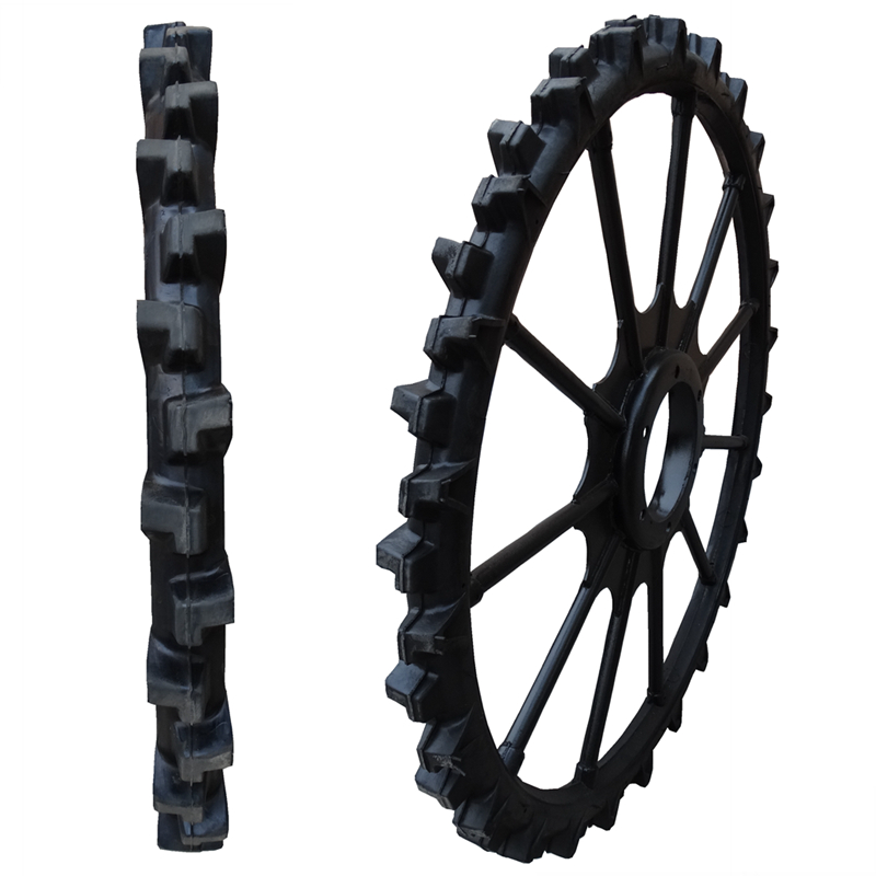 rubber solid tyres and wheels for disc seeding machine